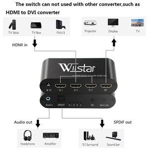 Image 5 - Wiistar SPDIF/Cáp Quang Âm Thanh TOSLINK Âm Thanh 3X1 Switcher Quang Kỹ Thuật Số HDMI Chuyển Đổi Bộ Chia Bộ Mở Rộng Với IR Remote Contro