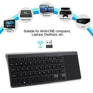 Image 3 - Ultra Dünne 2,4G Mini Drahtlose Tastatur Mit Touch Pad Büro Tastatur Für PC Windows Android Smart TV Box