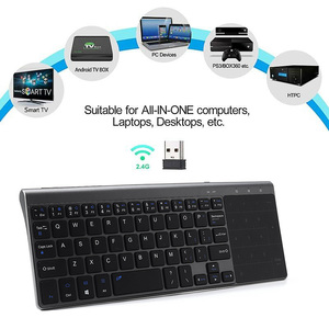 Image 3 - Ultra Thin  2.4G Mini Wireless Keyboard With Touch Pad Office Keyboard For PC Windows Android Smart TV Box