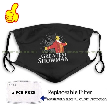 The Greatest Showman Ringmaster Silhouette Fashion Funny Design Black Reusable Masks The Greatest Showman Best Quotes The image