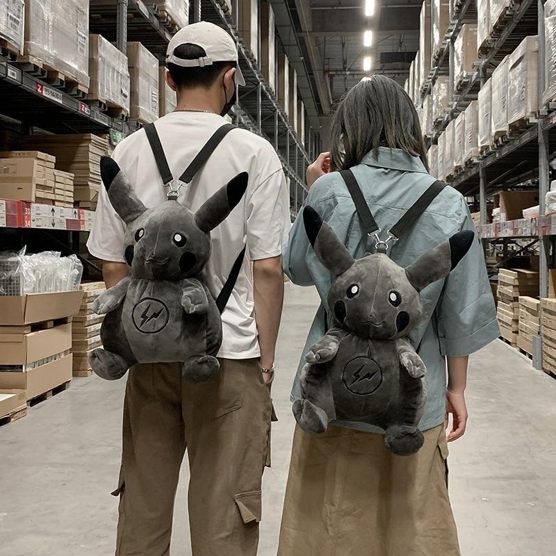 Fragment X Pokemon Pikachu Plush Backpacks Stuffed Animal Plush Doll Toy