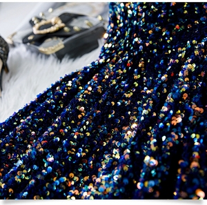 Image 5 - Navy Blue Short Prom Dresses Shiny Sequined Vestidos De Gala 2020 Women Cocktail Dress Party Graduation Gowns Homecoming Robe