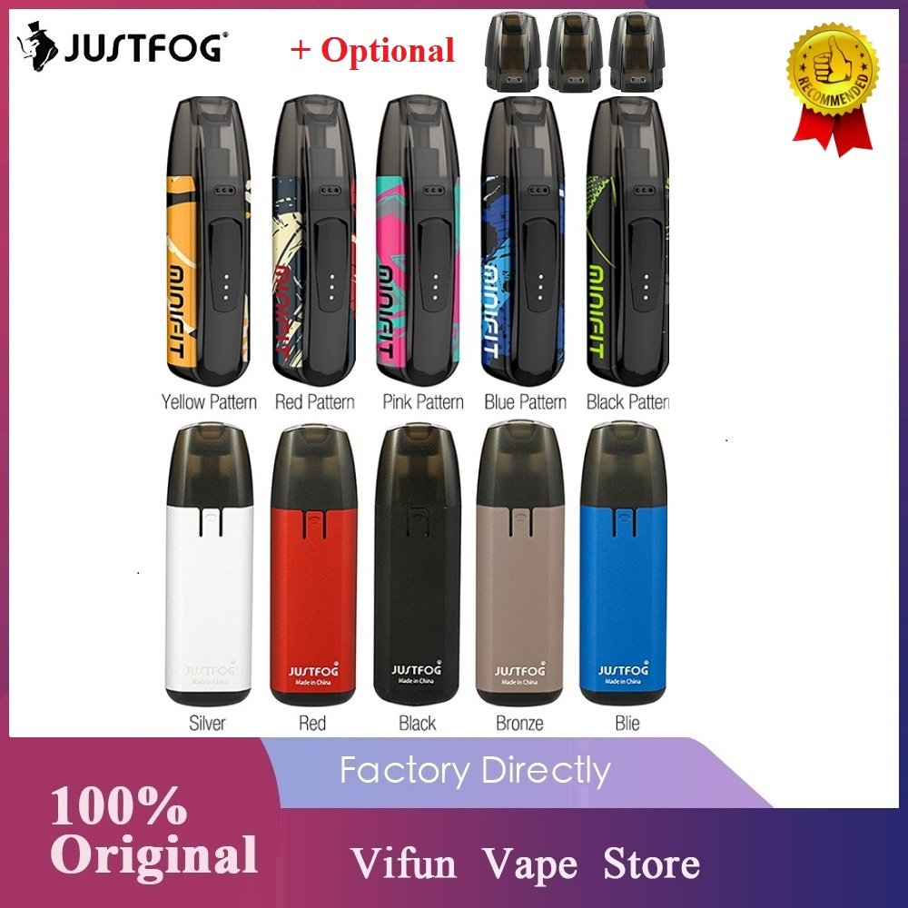New Original JUSTFOG MINIFIT Pod Vape Kit With 370mAh Battery & 1.5ml Cartridge Pod System Vape Kit VS Drag Nano/ Kubi / Q16 Pro