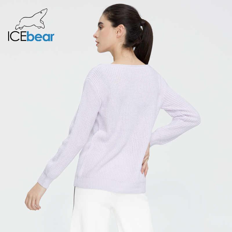 Icebear 2020 Lente Nieuwe Vrouwen V-hals Trui Knit Top Korte Slanke Trui Vrouwen AW-091