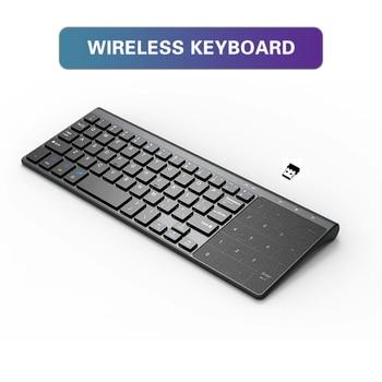 Sec New 2.4G Mini Wireless Keyboard With Touchpad Numpad 59 Keys For Windows PC,Laptop,Ios Pad,Smart TV,HTPC IPTV,Android Box