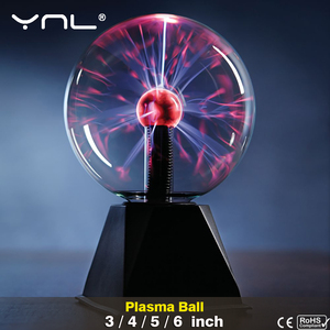 Novelty Magic Crystal Plasma Ball Touch Lamp 220V LED Night Light Child Nightlight Birthday Christmas Kids Decor Gift Lighting