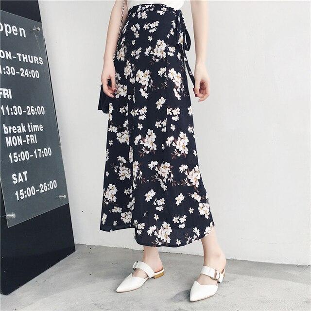 Женская асимметричная шифоновая юбка макси в богемном стиле 4