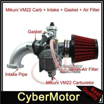 Mikuni VM22 Carburetor + 38mm Air Filter Intake Pipe + Gasket For 110cc 125cc 140cc YX Lifan SSR Pit Dirt Bike Stomp Demon X WPB