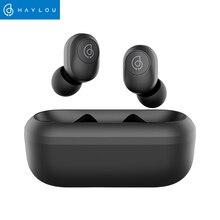 Haylou GT2 auriculares TWS, inalámbricos por Bluetooth 5,0, auriculares estéreo HD inalámbricos con Cable de carga oculto en color negro