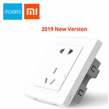 2019 xiaomi Aqara Smart wall Socket, Zigbee wifi Remotel Control Wireless Switch Work For Xiaomi Smart home kits APP
