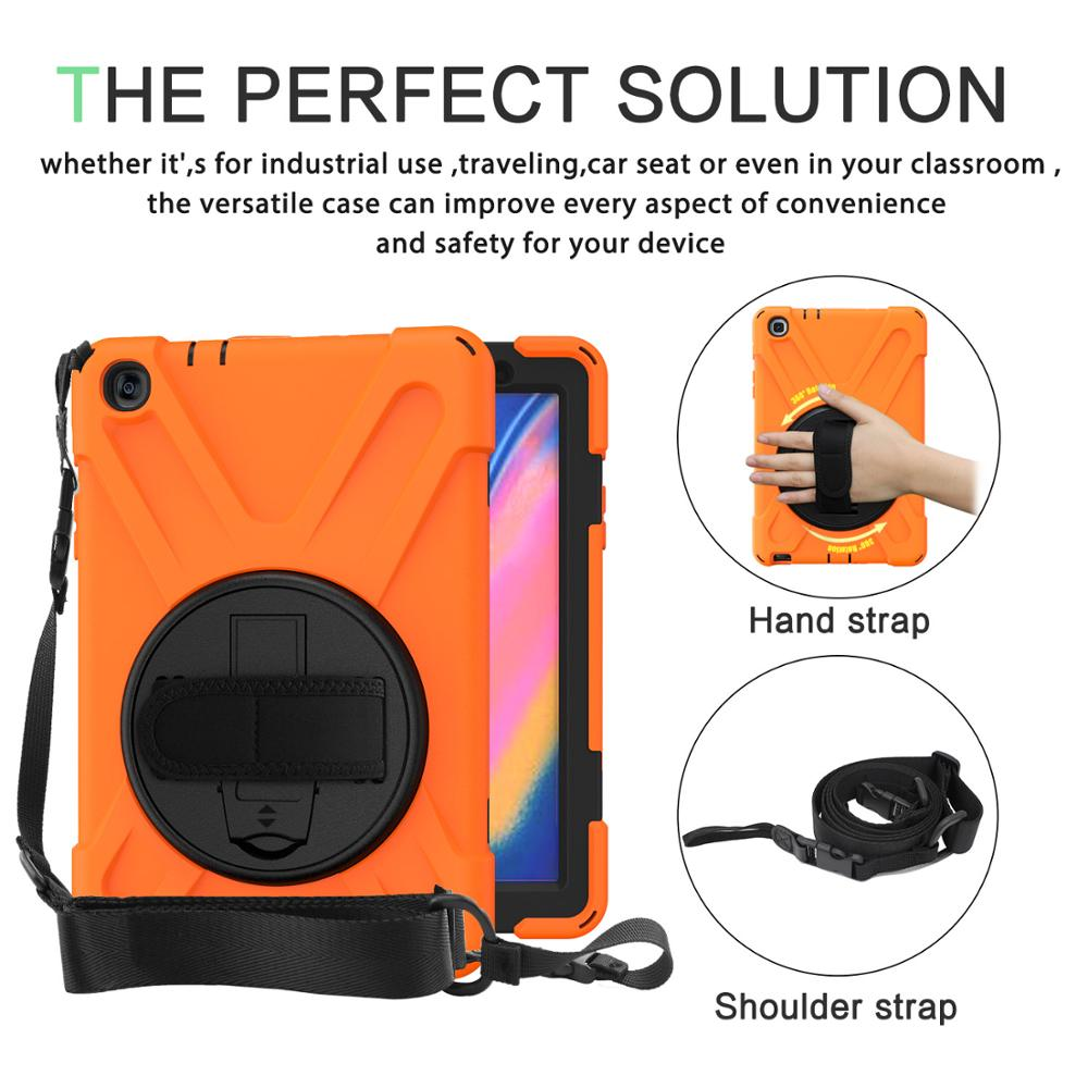 For <font><b>Samsung</b></font> Galaxy Tab A 8.0 2019 S Pen SM-P200 <font><b>P205</b></font> Kids Case with Hand Shoulder Straps Stand Shockproof Funda Cover for P200 image