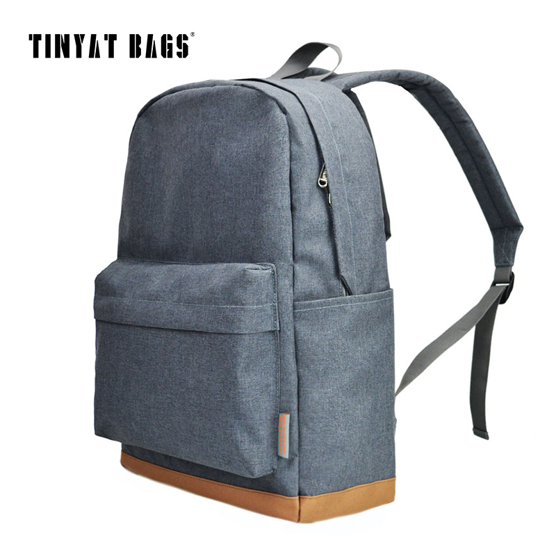 TINYAT Men <font><b>15</b></font> Inch <font><b>Laptop</b></font> <font><b>Backpack</b></font> with USB Men <font><b>Backpacks</b></font> School Leisure <font><b>Backpacks</b></font> for Teenagers Travel <font><b>Women</b></font> Shoulder bags image