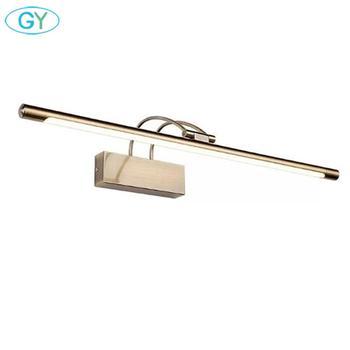 현대 led 미러 조명 유럽 스타일 벽 램프 욕실 침실 머리판 벽 sconce lampe 데코 anti-fog espelho banheiro luz