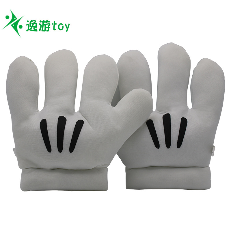 Large Performance Props Mickey Cartoon Anime Gloves Spring, Autumn And Winter Mickey Mouse Warm Gloves