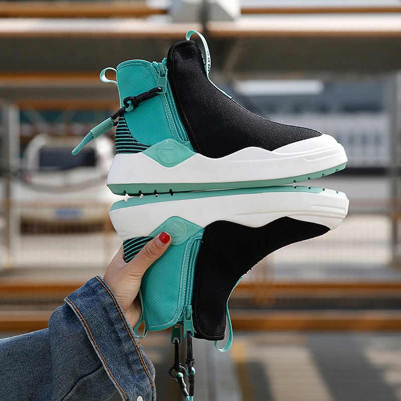 Upuper Hoge Top Schoenen Vrouw Sneakers 2020 Trend Jonge Mode Platform Sokken Sneakers Vrouwen Flats Schoenen Vrouwelijke Gevulkaniseerd Schoenen