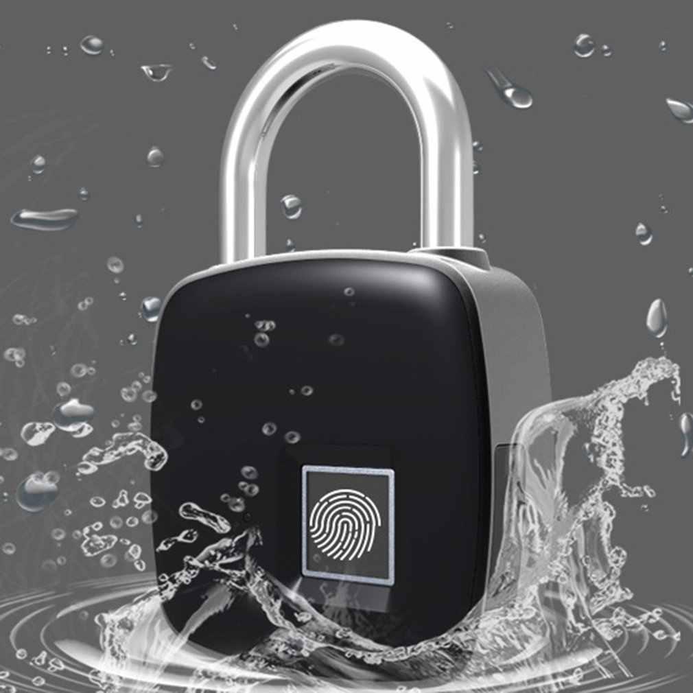 LT08 Мини Смарт usb зарядка отпечатков пальцев замок IP65 Водонепроницаемый Смарт отпечатков пальцев замок для рюкзака чемодан двери шкафа