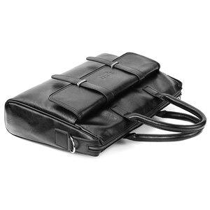 Image 4 - VICUNA POLO جديد أسود جلد العلامة التجارية الشهيرة رجال الأعمال حقيبة للمستندات حقيبة عادية 15.6 بوصة حقيبة يد للحاسوب المحمول للذكور