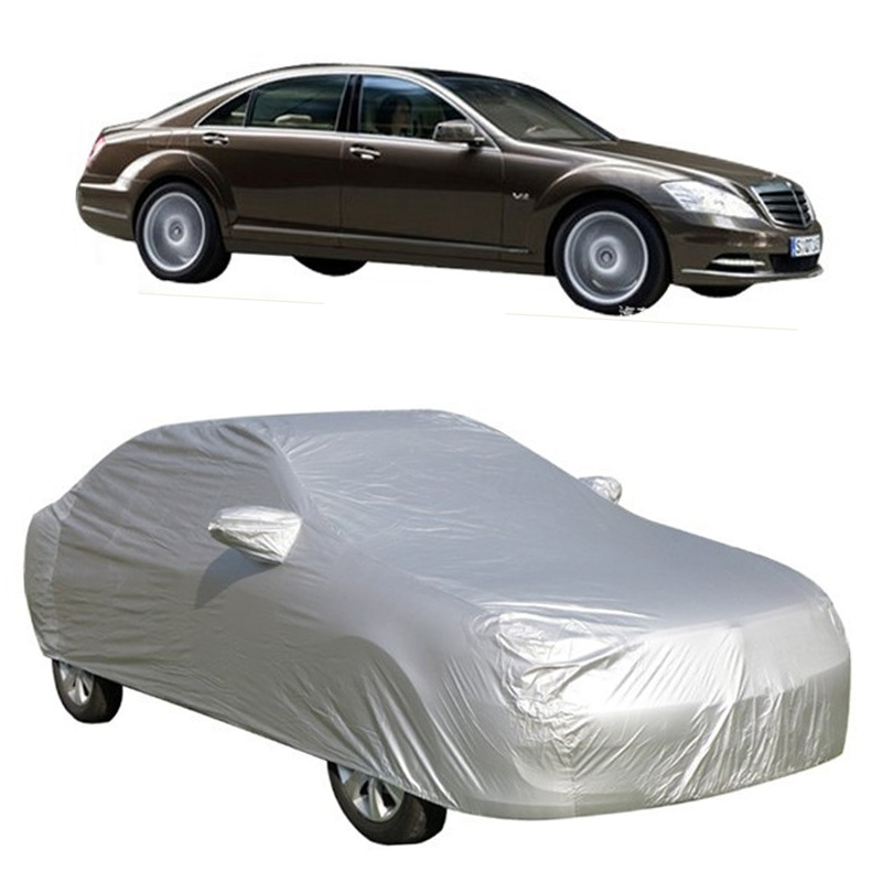 Full-Car-Covers Light Ice-Dust Snow Foldable Universal Silver-Size Auto Sun S-XXL