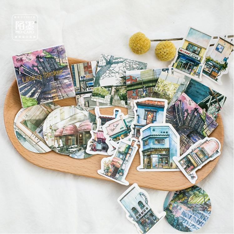 Mohamm Cute Journey Scenery Mini Paper Sticker Decoration Diy Ablum Diary Scrapbooking Label Sticker Stationey