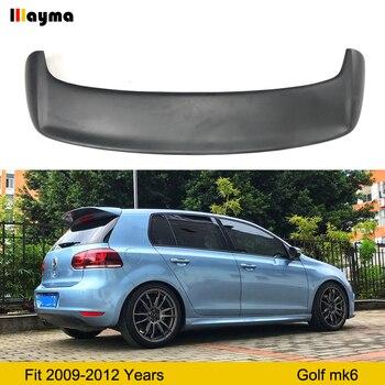 Fiber glass rear trunk spoiler For VW Golf VI MK6 Car FRP Matte black rear wing spoiler 2009-2012 year Golf 6 Roof wing spoiler carbon fiber car rear wing trunk lip spoiler for lexus nx nx200 nx200t nx300h 2015 2016 2017 2018 roof spoiler