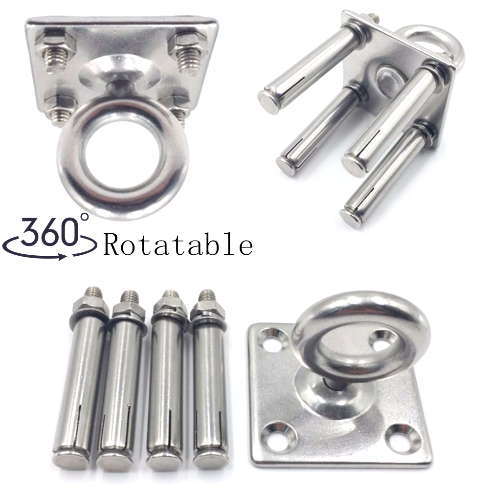 Stainless Steel Hammock Mount Ceiling Wall Anchor Aerial Training Suspension Bracket Swing Hanger Yoga Hanging Chair Accessories
