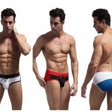 Men Swimsuit Brave-Person Pants Briefs Bathing Beach-Wear Surf Patchwork Sexy Triangle