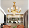 Современная роскошная Подвесная лампа для гостиной  Скандинавская бронзовая лампа для ресторана  спальни  креативная Хрустальная Подвесна...