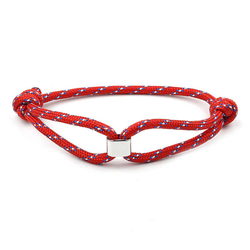 Summer Simple Sports Bracelet Adjustable Handmade Nylon Rope Chain Men Women Lovers Jewelry Lucky Gifts Colorful Bracelets