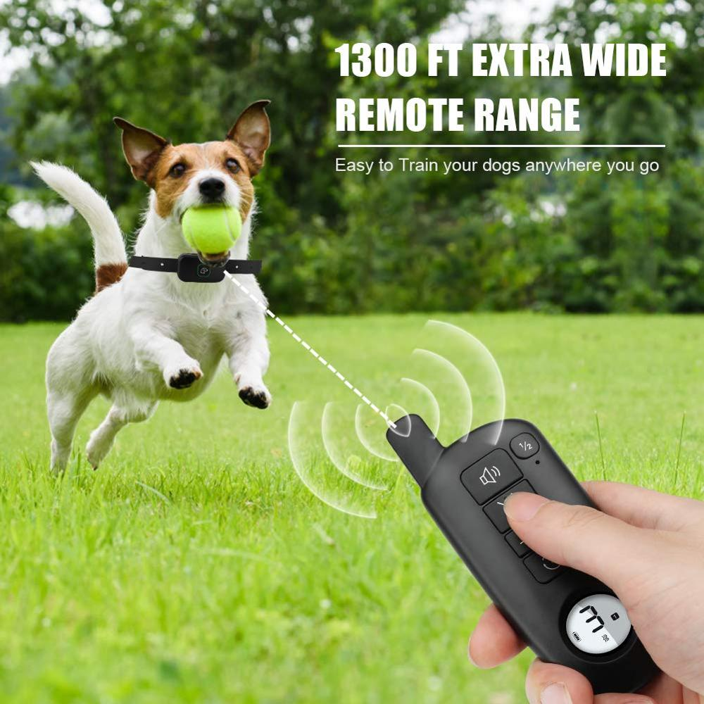 Waterproof Dog Training Collar with 1300ft Extra Wide Remote Range and Rechargeable Battery 1