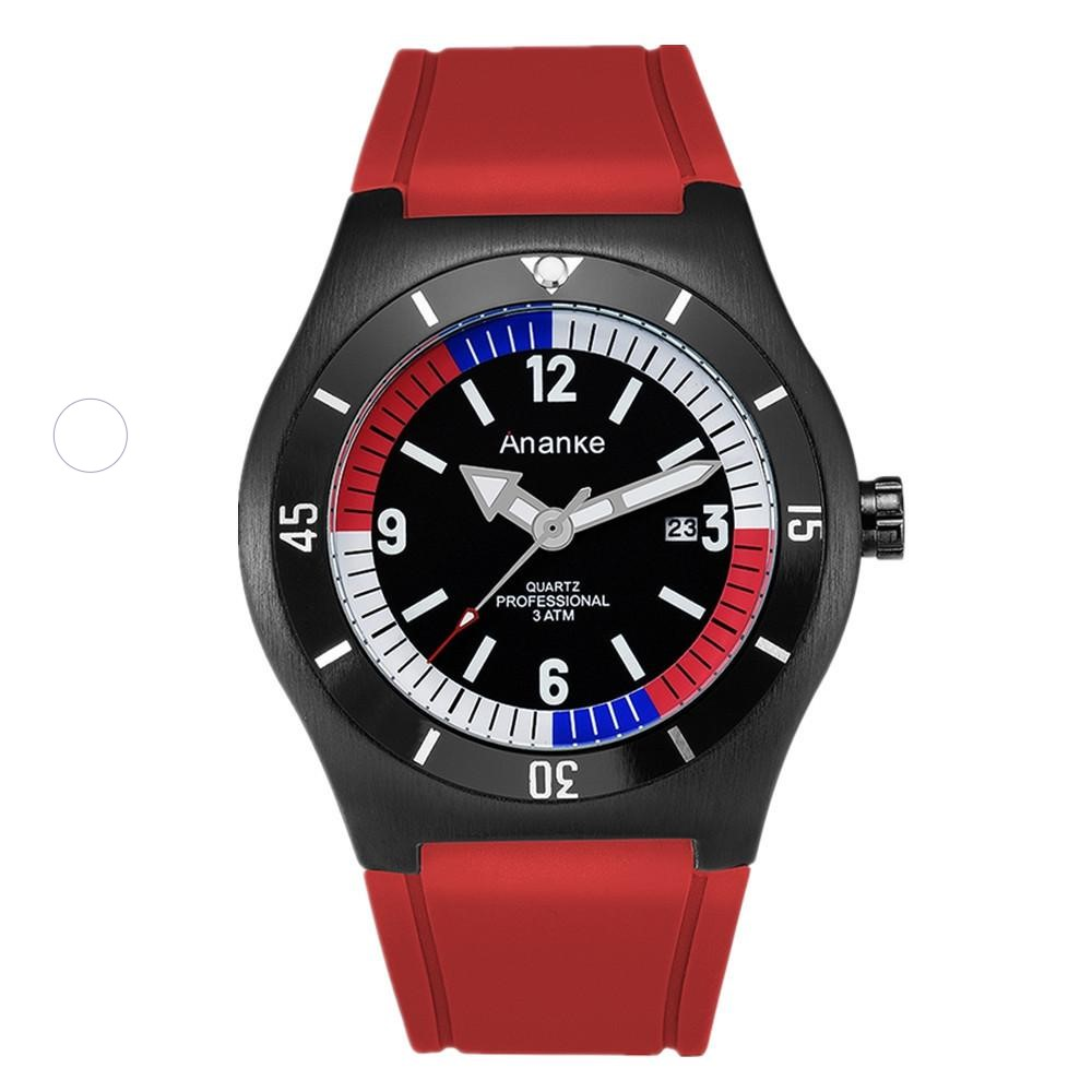 MEN'S Watch Japan Movement Silicone Watch Strap Students Sports Watch