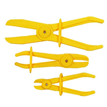 Off Hose clamps Pliers 3pcs Lightweight Flexible Radiator Pinch Yellow Hand Tools Supplies Accessory