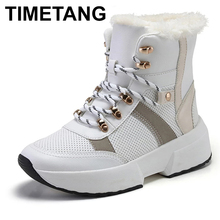 TIMETANG Women Non-Slip Waterproof Snow Boots Parent-child Winter Boots Thick Fur Platform Waterproof Warm Shoes