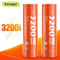 Batteria Essager 18650 batteria ricaricabile agli ioni di litio da 3200mAh 3.7V agli ioni di litio ad alta corrente per batterie torcia