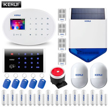 KERUI W20 WIFI GSM 2.4 inch Home Alarm System Touch Panel 6 Languages Switchable Burglar Alarm Host APP RFID PIR Sensor Siren