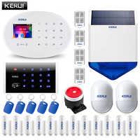 KERUI W20 WIFI GSM 2,4 zoll Home Alarm System Touch Panel 6 Sprachen Umschaltbar Alarmanlage Host APP RFID PIR sensor Sirene