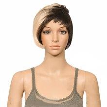 HAIRJOY синтетический парик для волос короткая бритва с длинной стороной взрыва 9 цветов