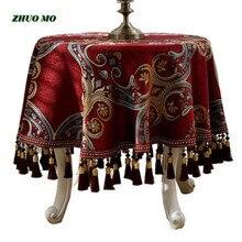 Zhuo mo luxo estilo europeu toalha de mesa redonda tafelkleed para decoração de casa restaurante a toalha de mesa sobre a mesa cobrir