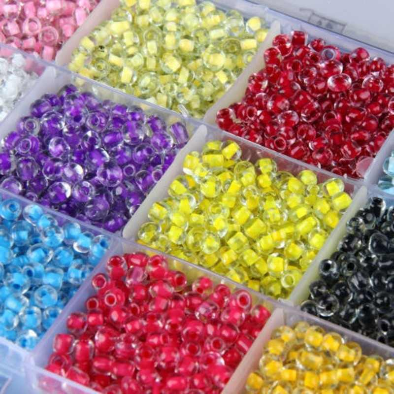 500+ Casted Colored Core Czech Crystal Glass Beads Rondelle DIY Seedbeads Spacer Beads for Jewelry Making 4mmx3.2mm