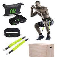 Power guidance botín banda de resistencia de cinturón de ejercicio para saltar entrenamiento pierna directo Fitness ejercicio rebotando entrenador