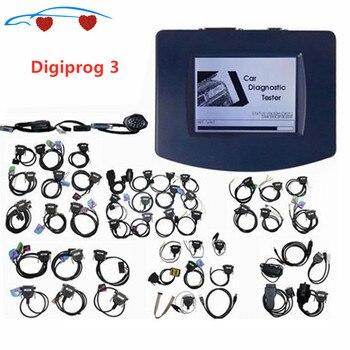 Новейший V4.94 Профессиональный программатор Digiprog III Digiprog 3 одометра с полным программным обеспечением, полный комплект digiprog3 со всеми кабелям