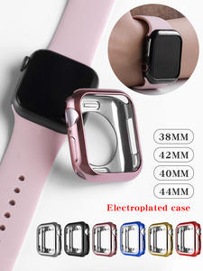 Watch case ultra-thin plated watch case for Apple 4 3 2 1 42MM 38MM soft transparent TPU cover for iWatch 5 44MM 40MMaccessories