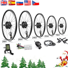 Electric Bicycle Conversion Kit 16-28in Motor Wheel 48V 36V Ebike Kit Rear Hub motor Wheel 350W Bike BLDC Controller with LCD electric bike conversion kit 24v 36v 48v 350w 8inch wheel brushless toothless hub motor e bike engine wheel motor scooter kit