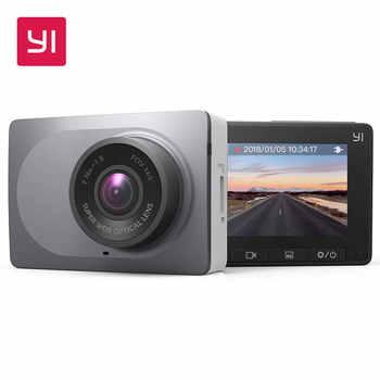 """Yi tablero inteligente wifi de la cámara del coche dvr de la visión nocturna hd 1080 p 2.7 """"165 grados 60fps adas segura"""