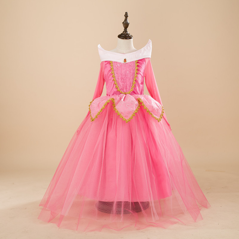 Fancy Princess Dress For Girls Halloween Cosplay Dresses Dress Up Costume Children Party Clothes 4