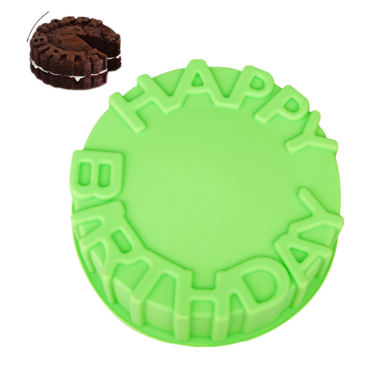 Single Happy  Birthday Silicone Mold, Cake Mold, DIY Jelly Mold Baking Mold