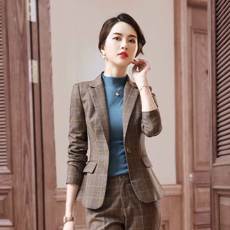 2019 New Style Stand Collar Suit WOMEN'S Suit-Style Slim Fit England Women's Wear Ol Suit Formal Wear Interview