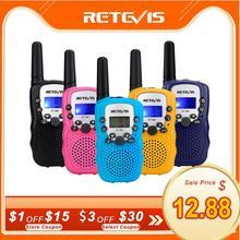 RETEVIS RT388 Walkie Talkieเด็ก2Pcs Comunicadorเด็กระยะทางวิทยุ100 800M Walkie Talkiesวันเกิดคริสต์มาสของขวัญ