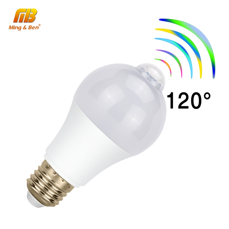LED PIR Motion Sensor <font><b>Bulb</b></font> <font><b>5W</b></font> 7W 9W 12W AC 85-265V E27 LED Induction Lamp For LED Emergency Home Staircase Bombillas Cold White image