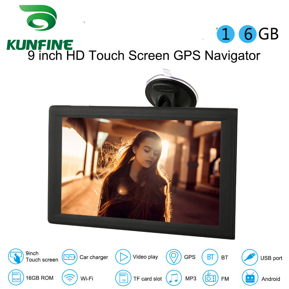 9 inch Touch Screen Android Car GPS Navigation 16GB DDR512M DVR Video Recorder Truck Vehicle Tablet AV-IN Bluetooth