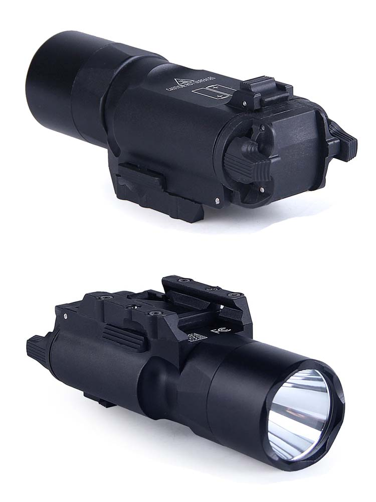 Pistola arma lanterna tática luz X300UH-B x300u